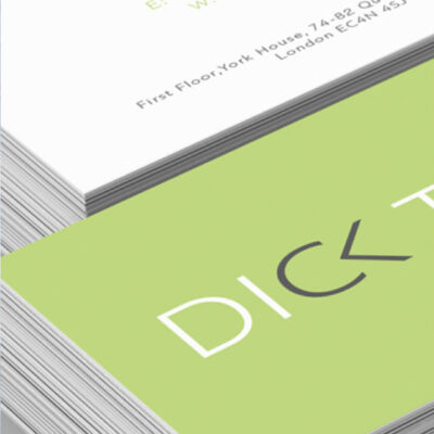 THE SHAPE - DICK TYLER BUSINESS CARDS